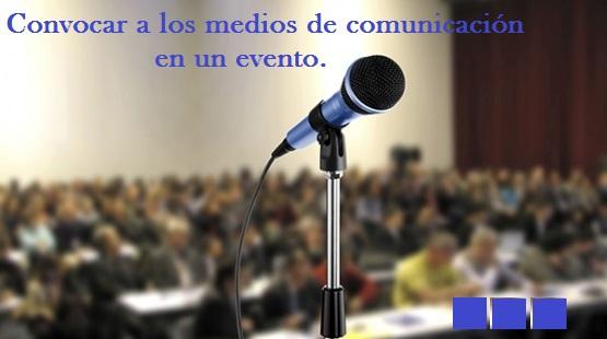 Convocatoria de prensa en un evento