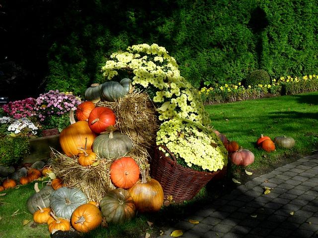 Decoración en eventos de otoño.