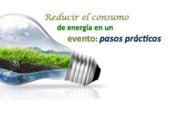 4 pasos prácticos para reducir el consumo de energía en un evento.